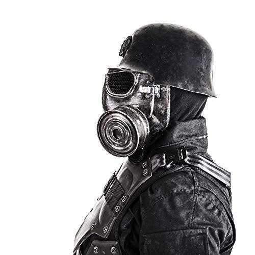 Posterazzi PSTZAB102990MLARGE Close-up Portrait of a Futuristic Nazi Soldier Wearing Gas mask Photo Print, 24 x 36, Multi