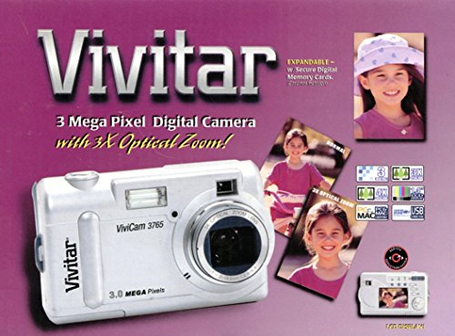 Vivitar ViviCam 3765Cámara Digital, 3Mpx, Zoom óptico de 3