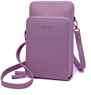 Cellphone Bag, Women Messenger Crossbody Bag Ladies Zipper Wallet Purse Credit Cards Holder Multipurpose Bags Coin Organizer Purse, 19.5 * 11.5CM