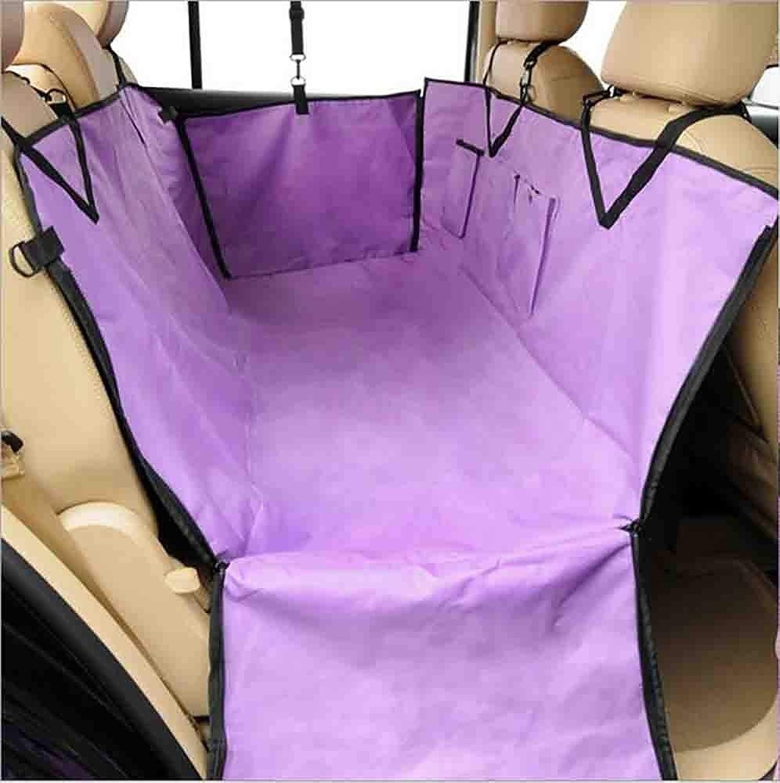 HOSHT Large Dog Seat Cover  Heavy Duty & Waterproof, Pet Dog Hammock Universal Fit in Suvs, Cars & Vehicles, Purple