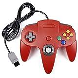 miadore Retro Gamepad 64 N64 Controlador, N64 Gamepad de Juego con Cable para 64 Console N64 (Rojo)