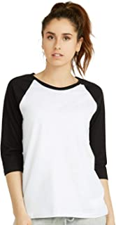 Women's Baseball Quarter Sleeve Tee Shirt