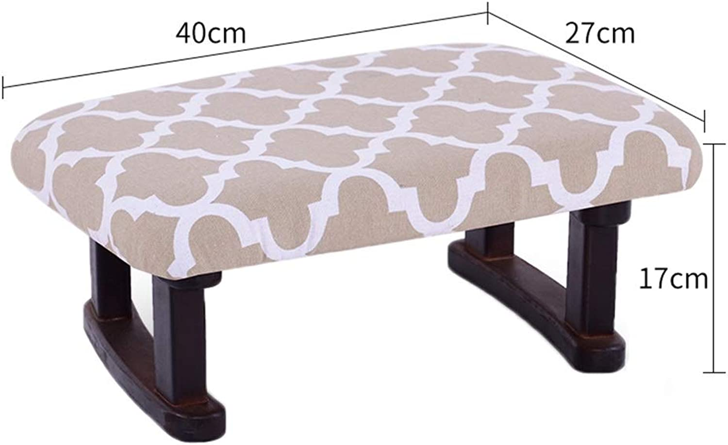 AGLZWY Sofa Stool Multipurpose Solid Wood Cloth Breathable Portable Modern Simple Living Room Dining Stool Small Bench, Multicolor, 40X27X17cm (color   A, Size   40X27X17cm)