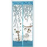 Nuevo verano duradero adsorción automática magnética anti-mosquitos mosquitera puerta cortina puerta pantalla partición cocina ventana cortina color A1 W80xH210