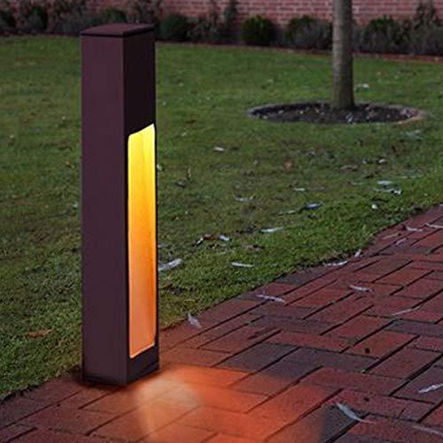 Staande lamp van aluminium, E27, roestkleurig | buiten-bolderlamp, designer buitenlamp buitenlamp padverlichting buitenverlichting industriële roestig tuinlicht buitenverlichting industrie