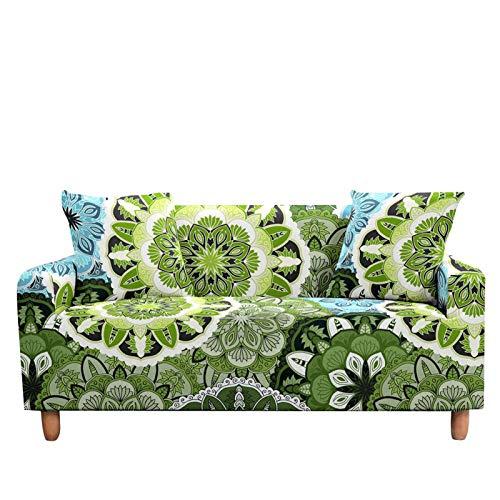 Funda elástica para sofá de estilo bohemio, funda elástica para sillón de 2 a 3 plazas, para decoración del hogar, color 7 a 4 plazas (235 a 300 cm)