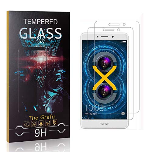 Affordable The Grafu Screen Protector for Huawei Honor 6X, 9H Hardness, High Transparency, Anti Scra...