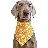 QTMHT Pet Triángulo Toalla Patrón Vintage Impermeable Saliva Toalla Bufanda Práctico Baberos Bandanas Pañuelo Cuello Gatos Y Perros Productos Mascotas Regalo,Amarillo,XXL