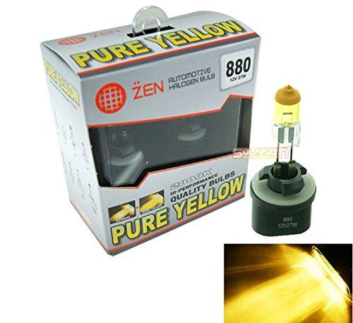 Bombilla para faro delantero halógeno dexenón X2 HID, en amarillo puro, H1/H3/H4/H7/H8/H11/880/881/9005/9006,Tipo 2800K