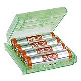 Caja Box Almacenado para Pilas AA, Blister Plástico Estuche Cubierta Color Verde