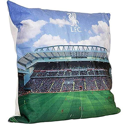 FC Liverpool Cushion LED Anfield Road Stadium Decorative Cushion LFC - Plus Sticker We Love Football