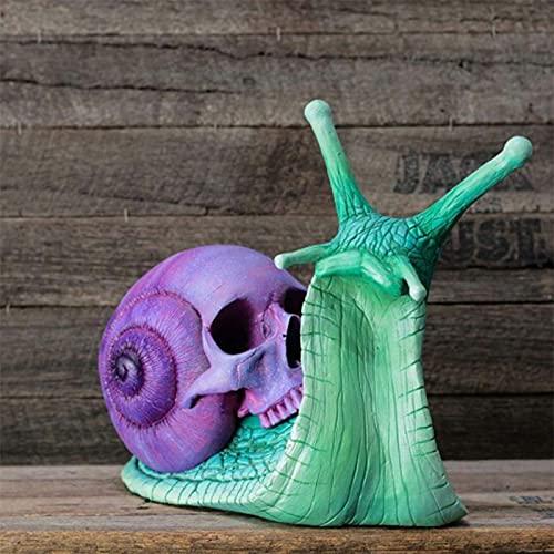 NMSGS0 Escultura de Calavera de Caracol Modelo de Juguete de descompresión de Halloween decoración gótica Estatua de Caracol Patio Calavera de Caracol estatuilla artesanías A