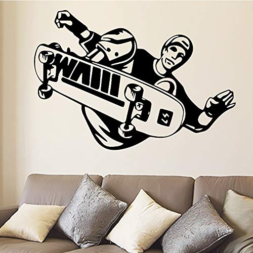 Etiqueta engomada de los deportes Skateboard Stunt Stunt Skills Flip Jump Skateboard Etiqueta Sports Art Decal Vinilo Etiqueta A6 42X61CM