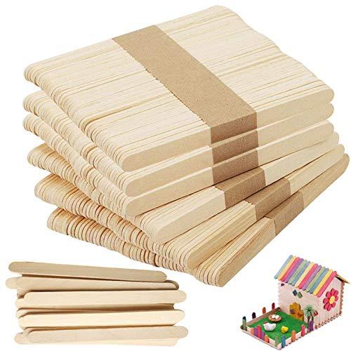 🍭Tamaño: 100 palos de madera natural de 11,4 x 1,0 x 0,2 cm, 50 palos de madera de colores de 6,5 x 1,0 x 0,2 cm y accesorios para nidos de conejos. 🍭Materiales seguros y saludables: estas paletas están hechas de madera natural de alta calidad y son ...