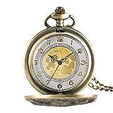 Orologio da tasca retrò, esclusivo orologio da tasca al quarzo con copertura cava polpo Collana bronzo/colore grigio Orologi da taschino per uomo Donna 2021 Nuovo orologio da regalo per bambini