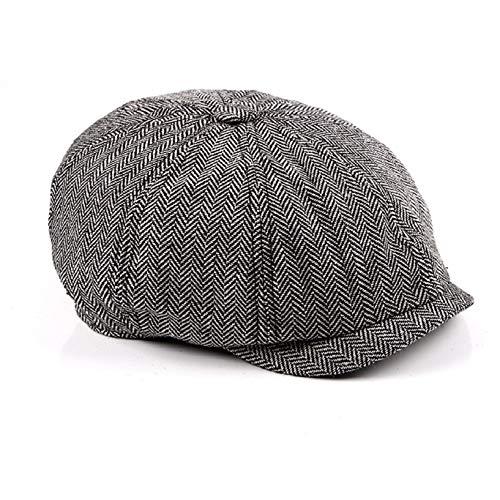 FELZ Moda Hombre Boinas Oto/ño Invierno Gorras De Algod/ón Bordadas Vintage Sombrero Hombre Algod/ón y Lino Gorras Planas Unisex Boina Newsboy Hat