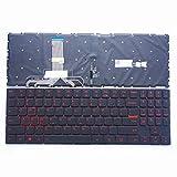 Teclado para computadora portátil Nuevo teclado de computadora portátil en inglés con retroiluminación negra de EE. UU. (Sin marco) Reemplazo para Lenovo Legion Y520-15IKBN Y720-15IKB Luz de fondo