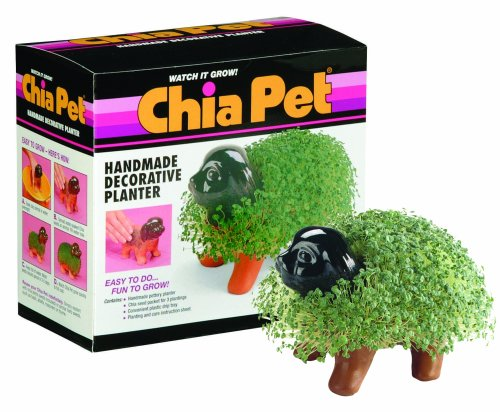 Chia Pet Puppy with Seed Pack, Decorative Pottery Planter, Easy to Do and Fun to Grow, Novelty Gift, Perfect for Any Occasion
