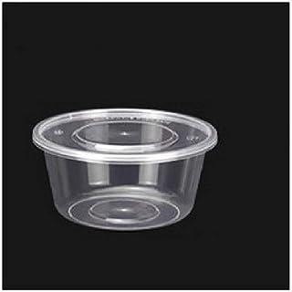Dîner 600 boîtes en plastique transparent jetables bols à soupe Chutney bols boîte de rangement avec couvercle contenants ...