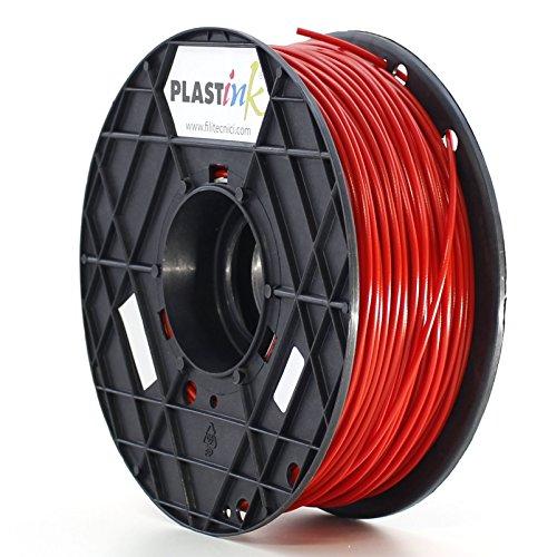 Plastink ABS300RD1 Filamento per Stampante 3D in ABS, Diametro 3 mm, Rosso