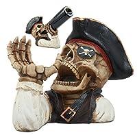 Evil Dead SeaスケルトンCaptainゴールドTooth PirateワインボトルホルダーFigurine