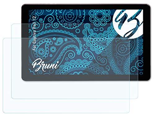 Bruni Schutzfolie kompatibel mit Captiva Pad 12 Folie, glasklare Bildschirmschutzfolie (2X)
