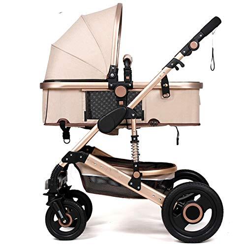 WUZHI El Cochecito De Bebé De Dos Vías Que Conduce El Coche del Paraguas Puede Sentarse Recostado SUV Carro De Absorción De Choque Carro De Bebé,A
