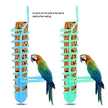 【𝐏𝐫𝐨𝐦𝐨𝐭𝐢𝐨𝐧 𝐝𝐞 𝐏â𝐪𝐮𝐞𝐬】 Panier de mangeoire, Abreuvoir de Cage à Oiseaux, Support de Support de Perche en Plastique, Panier de mangeoire en Plastique, 25 cm / 9.8in intérieur pour Perruc