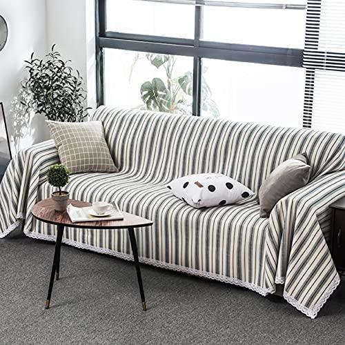 Wgreat Divano da 1 pezzo, copertura completa per 1 2 3 4 cuscini, protezione antiscivolo per cani di animali domestici e bambini, grigio, 180 x 300 cm