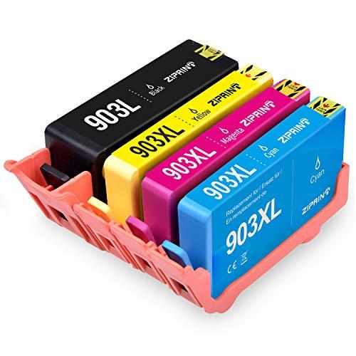ZIPRINT Compatible HP 903 HP 903XL Cartucho 4 Multipack para HP OfficeJet 6950 HP OfficeJet Pro 6960 HP OfficeJet Pro 6970 Impresora