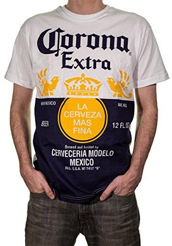 Offizielles Corona Extra Bottle Label Herren-T-Shirt - mehrfarbig - Groß