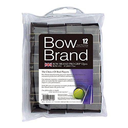 BOWBRAND(ボウブランド) オーバーグリップテープ12本巻 ウェットタイプ ブラック BOW012-BK BOW012-BK