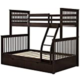 L.W.S Muebles de Dormitorio Cama con Doble Cama con Doble Cama con escaleras y Dos cajones de Almacenamiento Cama Doble