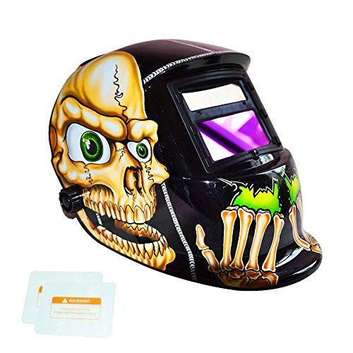 Welding Helmet, TEKWARE Solar Power Auto Darkening Welding Hood Welder Mask Breathable Grinding Helmets with Adjustable Shade Range 4/9-13