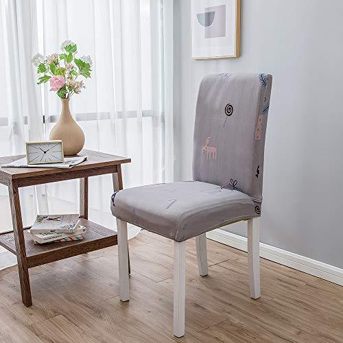 Chickwin Housse de Chaise Extensible Universal 1/4/6 Pièces Extensible Amovible Wasbaar Duurzaam Modern Couverture de Chaise Pour Maison Bouquet Hôtel Restaurant