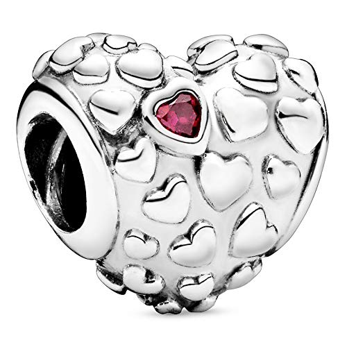 Pandora Jewelry Mom in a Million Heart Cubic Zirconia Charm in Sterling Silver