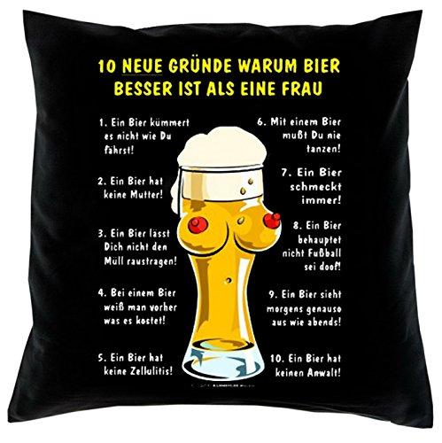 Kissen komplett mit Füllung, Dekokissen, Couchkissen, Deko - 10 Gründe warum Bier besser ist als eine Frau...