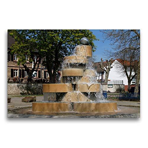 Premium Textil-Leinwand 75 x 50 cm Quer-Format Berliner Brunnen | Wandbild, HD-Bild auf Keilrahmen, Fertigbild auf hochwertigem Vlies, Leinwanddruck von Petrus Bodenstaff