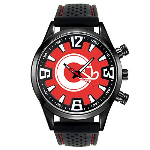 Timest - Bandera de Canada Calgary - Reloj para Hombre con Correa de Silicona Analógico Cuarzo SF337