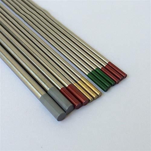Lcuilin—Varilla de soldadura Electrodo de tungsteno del electrodo de 150 mm de TIG, 10 piezas WT20 WC20 GRY WL15 Gold WL20 Azul, Ampliamente utilizado ( Diameter : 2.4mm , Material : GOLD WL15 )