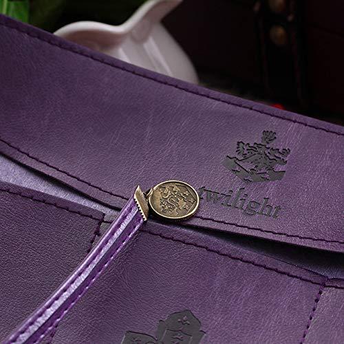 Achicoo Federmäppchen im kreativen Ethno-Stil, PU-Leder, Retro-Stil, schlicht, großes Fassungsvermögen 1#