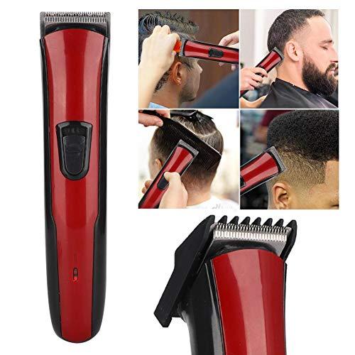 Oplaadbare haarsnijmachine, elektrische oplaadbare tondeuse, elektrisch haarscheerapparaat, elektrische tondeuse Oplaadstekker Dual Use-scheerapparaat met geleidekam(Rood)