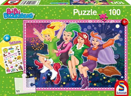 Schmidt Spiele Puzzle 56323 Bibi Blocksberg, Hexenausflug, 100 Teile Kinderpuzzle, bunt