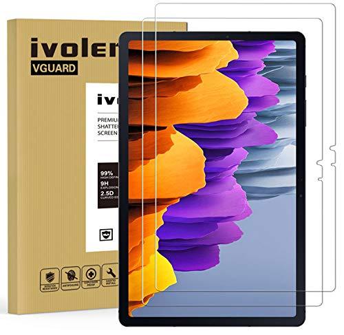 iVoler 2 Pezzi Pellicola Vetro Temperato per Samsung Galaxy Tab S7 11 Pollici (T870 / T875 / 876B), Pellicola Protettiva Protezione per Schermo per Samsung Galaxy Tab S7 11 Pollici