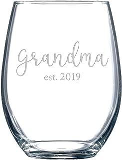 Est. 2019 Stemless Wine Glasses (Grandma)