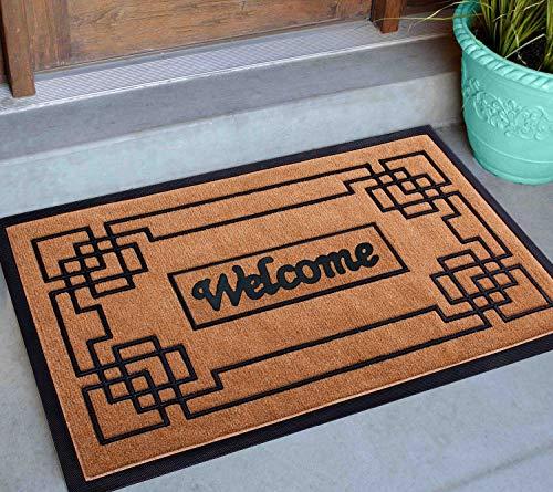 "Welcome Mats for Front Door 18""X30"" Extra Durable Door Mats for Home Entrance, Front Door Mat Outdoor, Outside Door Mats for Front Door, Hello Door Mat Outdoor, Cute Doormats for Outdoor Entrance"