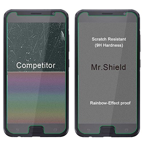 [3-PACK]- Mr.Shield For Asus ZenFone V (Verizon) [Tempered Glass] Screen Protector [0.3mm Ultra Thin 9H Hardness 2.5D Round Edge] with Lifetime Replacement