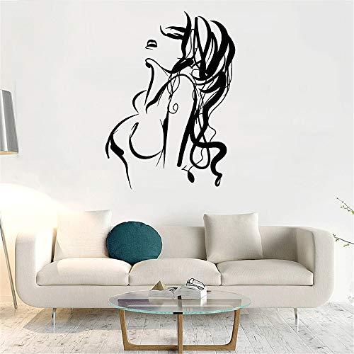Rfokun Hot Sexy Girl Nackte Frau Abstract Nude Wandtattoo WandSticker Wand Deko für Wohn-Schlafzimmer Küche Flur 57x79cm