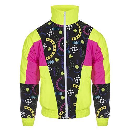 Funky Alps Wintersport Training Jacke, waterdicht und Winddicht, Retro Vintage Style (Large)