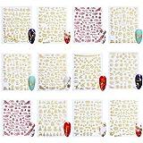 Minkissy 18 Hojas de Pegatinas de Arte de Uñas de...